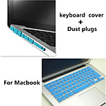 2016 Hot Selling Solid Color Keyboard Cover and Hinder Dust Plug for Macbook Pro 13.3 inch