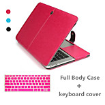 Solid Color Luxury Leather Full Body Case and TPU Keyboard Cover for Macbook Air 11.6 inch (Assorted Colors)