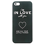 Love Heart Pattern Hard Case for iPhone 5/5S