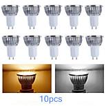 10 Stück MORSEN Dimmbar Spot Lampen PAR GU10 3 W 200-250 LM K High Power LED Warmes Weiß/Kühles Weiß AC 220-240/AC 110-130 V
