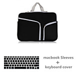 Fashion High Quality Solid Color Canvas Zipper Sleeve with Keyboard Cover for Macbook Air 11.6 (Assorted Colors)