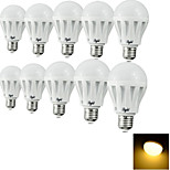 youoklight® 10PCS E27 7W 12*SMD5630 550LM 3000K Warm White Light LED Globe Bulbs (AC220V)