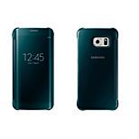 Blue PU Leather  Special Design Plating mirror intelligent dormancy  For Samsung Galaxy S6 edge