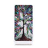arbre coloré de modèle de vie TPU doux cas de retour de couverture pour Sony z3 mini-