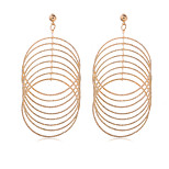 Women 18K Real Gold Plated Simple Style Trendy Basketball Wives Stud Earrings