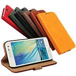 PU portefeuille suivant des importations de céréales de l'écorce pour Samsung Galaxy a3 a3000 (de couleurs assorties)