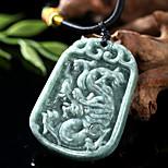 Enter the Dragon of Natural jade pendant