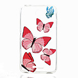 Red Butterfly Pattern TPU Phone Case for Sony E4