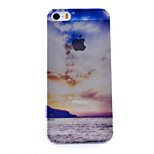 Blue Cloud Scenery Pattern Semipermeable Scrub PC Material Phone Case for iPhone 5/5S
