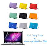 Top Quality Full Body Matte Case and Screen Protetive Film for Macbook Pro 15.4  inch (Assorted Colors)