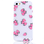 Strawberry Fruit Pattern Transparent TPU Soft Phone Case for iPhone 5/5S