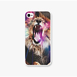 Rage of the Lion Pattern PC Phone Back Case Cover for iPhone5C