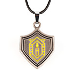 Vilam® American Hero Shield Shape Iron Man Zinc Alloy Pendant Necklace