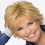In Europe And The Middle-Aged And Old Gold Blend Color Short Wigs