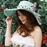 Women Summer Bow Straw Floppy Hat