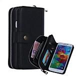 alto grau de couro genuíno coldre de telefone móvel caso de corpo inteiro caso resistente a quebrar para i9600 Samsung Galaxy S5
