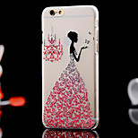 Butterfly Dance Diamonds Back Case for iPhone 6(Assorted Color)
