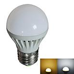 E27 3W 8x2835SMD 270LM 2800-3200K/6000-6500K Warm White/White LED Globe Bulb (AC 220V)