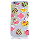 Watermelon Fruit Pattern Transparent TPU Soft Phone Case for iPhone 6
