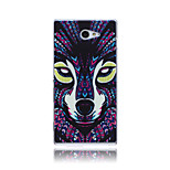 Beast Wolf Pattern TPU Soft Back Cover Case for Sony Xperia M2