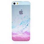 motif de paysages de montagne de neige semi-perméable gommage pc cas matériau de téléphone pour iphone 5 / 5s