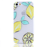 Lemon Fruit Pattern Transparent TPU Soft Phone Case for iPhone 5/5S