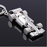 Auto F1 Racing Car Key Chain Stainless Steel Key Ring Organizer Holder Slivery Durable Keyring Gift