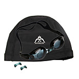 JIE JIA Super Anti-Fog Goggles J2659-1 (Black) + HONGRUIKE Hon Sharp Grams Cloth Caps (Black)