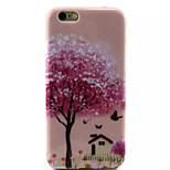 Cover Back Case Pink House TPU Soft Case Special Design for iPhone 6