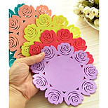 Rose Pattern Silicone Cup Coasters (Random Color) 20*20*1cm