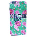 Flower Skull  Pattern Hard Case Cover for iPhone 6 Plus