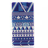 Stripe Pattern Material TPU Soft Phone Case for Sony Xperia M2