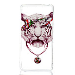 Tiger Pattern TPU Material Phone Case for Sony Xperia Z3