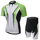 XINTOWN RuiJian Green Unisex Short Sleeve SummerCycling Suits Breathable/Quick Dry/Anatomic Design/3D Pad/Reflective