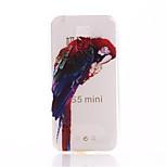 삼성 갤럭시 S5 미니에 대한 앵무새 패턴 인쇄 TPU 소재 휴대 전화 케이스
