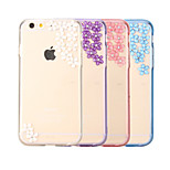Fashion 3D Design with Bling Sakura Pattern PC Back Cover for iPhone 6(Assorted Color)