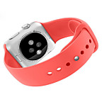 Colorful Fashion  TPU Watch Band For Apple Watch 42mm Silicone Band Wrist Strap Cover Case For iWatch