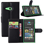 Litchi Around Open Bracket Leather Phone Wallet Card Suitable for Nokia Lumia  730(Assorted Color)