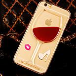 Three-dimensional liquid PC Phone Case for iPhone 6