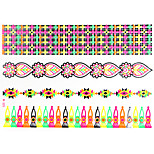 1 PC Fluorescent Color Bracelets Tattoos Stickers  for Body Makeup W325