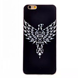 Eagle Pattern TPU Painted  Soft Back Cover for iPhone 6