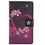 Love Pattern Wallet Card PU Case With Stand For Microsoft Lumia 435