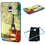 Fashion Design coco fun® tpu della copertura della cassa posteriore del modello all'alba della Torre Eiffel per Samsung Galaxy Note 4