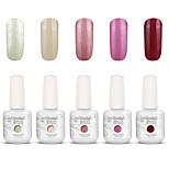 nail art gelpolish tremper hors uv ongles gel gel de couleur de vernis kit de manucure 5 couleurs définies S114
