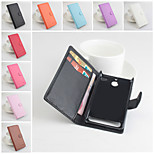 Protective PU Leather Magnetic Vertical Flip Case for Sony Xperia E1(Assorted Colors)