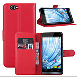 Litchi Around Open Bracket Leather Phone Wallet Card Suitable for Wiko Getaway(Assorted Color)