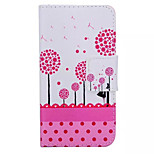 Pink Dandelion Pattern Quality PU Material  Leather for Nokia 640