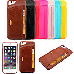KARZEA™ Back Cover Card Slot Pattern TPU and PU Back Cover Case for iPhone 6/6S(Assorted Colors)