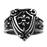 Anchor Shield Exaggerated Personality Rock Titanium Steel Stainless Steel Men's Ring