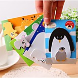 Parent-Child Cartoon Animals Post-It Notes (Random Color)